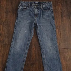 Mid Rise Loose boot-cut jeans